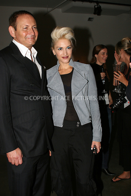 WWW.ACEPIXS.COM . . . . .  ....September 10 2009, New York City....Group President of MAC Cosmetics John Demsey and Gwen Stefani at LAMB fashion presentation at Milk Studios on September 10 2009 in New York City....Please byline: NANCY RIVERA- ACE PICTURES.... *** ***..Ace Pictures, Inc:  ..tel: (212) 243 8787 or (646) 769 0430..e-mail: info@acepixs.com..web: http://www.acepixs.com