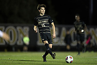 WINSTON-SALEM, NC - DECEMBER 07: Isaiah Parente #15 of Wake Forest University passes the ball during a game between UC Santa Barbara and Wake Forest at W. Dennie Spry Stadium on December 07, 2019 in Winston-Salem, North Carolina.