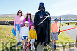 Meeting Darth Vader at the May the 4th be with you Festival on Valentia on Sunday were front l-r; Laura & Rory Conway, back l-r; Julie O'Connell, Cate & Liam Conway from Portmagee.