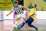 Pescara's Cristian Borruto (l) and Inter FS's Ricardinho during UEFA Futsal Cup 2015/2016 Semifinal match. April 22,2016. (ALTERPHOTOS/Acero)