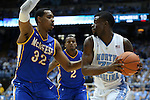 22 December 2012: North Carolina's Reggie Bullock (35) and McNeese State's Desharick Guidry (32). The University of North Carolina Tar Heels played the McNeese State University Cowboys at the Dean E. Smith Center in Chapel Hill, North Carolina in an NCAA Division I Men's college basketball game. UNC won the game 97-63.