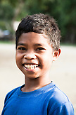 PHILIPPINES, Palawan, Barangay region, portrit of a Batak boy in Kalakwasan Village