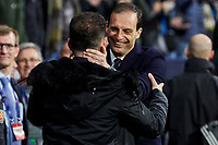 Atletico de Madrid's coach Diego Pablo Simeone and Juventus' coach Massimiliano Allegri during UEFA Champions League match, Round of 16, 1st leg between Atletico de Madrid and Juventus at Wanda Metropolitano Stadium in Madrid, Spain. February 20, 2019. (Insidefoto/ALTERPHOTOS/A. Perez Meca)<br /> ITALY ONLY