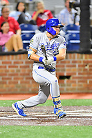 Burlington Royals Vinnie Pasquantino (33) swings at a pitch during game one of the Appalachian League Championship Series against the Johnson City Cardinals at TVA Credit Union Ballpark on September 2, 2019 in Johnson City, Tennessee. The Royals defeated the Cardinals 9-2 to take the series lead 1-0. (Tony Farlow/Four Seam Images)