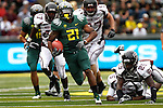 09/17/11-- Oregon running back LaMichael James sprints past Missouri State defenders for a touchdown in the second half at Autzen Stadium in Eugene, Or....Photo by Jaime Valdez. ..............................................