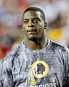 Washington Redskins running back Clinton Portis (26) prior to the game against the Indianapolis Colts at FedEx Field in Landover, Maryland on Sunday, October 17, 2010.  Portis is out of action with a groin injury..Credit: Ron Sachs / CNP