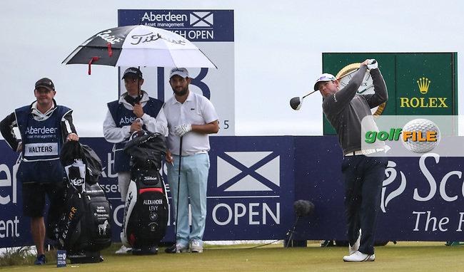Justin Walters (RSA) plays to the last during Round Three of the 2016 Aberdeen Asset Management Scottish Open, played at Castle Stuart Golf Club, Inverness, Scotland. 09/07/2016. Picture: David Lloyd | Golffile.<br /> <br /> All photos usage must carry mandatory copyright credit (&copy; Golffile | David Lloyd)