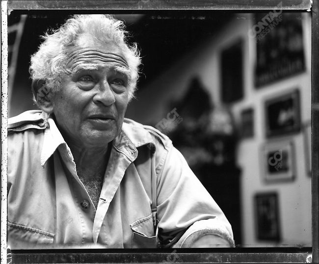 Norman Mailer at home, Brooklyn, New York, Auguat 1991