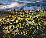 USA, California, Waves breaking on tidepools in La Jolla