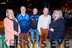 Desmonds GAA make a special presentation to Ger Murphy from the club, as he is stepping down as PRO of Desmonds, at the Castleisland Desmonds LGFA/GAA Awards Night in the River Island Hotel on Sunday.<br /> L to r: Angela Ring O'Donoghue, Ger Murphy, Dan Carney, Willie Dom O'Connor and Sandra McGailey.
