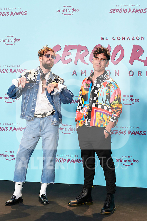 Alexander Sott and Ardilla in the world preview of EL CORAZÓN DE SERGIO RAMOS, documentary series about the life of the captain of Real Madrid and the Spanish Soccer Team, at the Reina Sofía Museum on September 10, 2019 in Madrid, Spain.<br />  (ALTERPHOTOS/Yurena Paniagua)