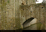Barbican Wall and Bridge, Fortified Gate, Norman Stonework, Leeds Castle, Maidstone, Kent, England, UK