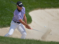Bethesda, MD - June 28, 2014:  Billy Horschel plays a bunker shot from the 11th hole during the Final Round of the Quicken Loans National at the Congressional Country Club in Bethesda, MD, June, 29, 2014.   (Photo by Don Baxter/Media Images International)