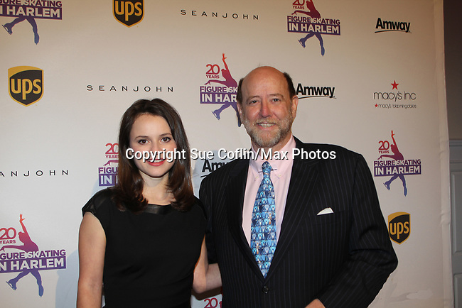 Sasha Cohen & Curtis McGraw Webster both honored tonight - Figure Skating in Harlem celebrates 20 years - Champions in Life benefit Gala on May 2, 2017 honoring Sasha Cohen and award is presented to her by Evan Lysacek and Curtis is presented award by Dick Button. (Photo by Sue Coflin/Max Photos)