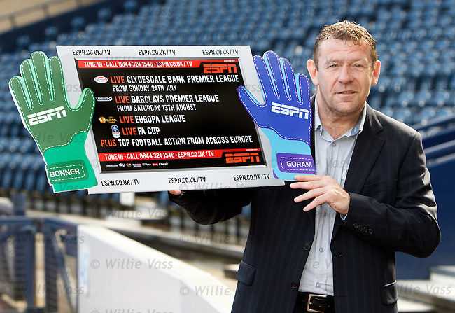 Andy Goram at Hampden to launch the new football season on ESPN