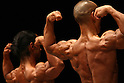 June 6, 2010 - Tokyo, Japan - Japanese bodybuilders flex their muscles during a regional bodybuilding competition on June 6, 2010 in Tokyo, Japan. A total of 116 male bodybuilders took part in the competition hosted at Hoku Topia hall on Sunday.