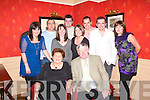 Eleanor and Johnny Kelliher (Ash St. Tralee) celebrated their 40th wedding anniversary with their family in The Meadowlands Hotel on Saturday night. Front: Eleanor and Johnny Kelliher. Back: Jackie, Kieran, Michelle, Eoin, Anne, Bryan, Aidan and Marian Kelliher. Hidden in the picture is Mossie Lyons..   Copyright Kerry's Eye 2008