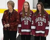 ?, Samantha Reber (Harvard - 12), Kalley Armstrong (Harvard - 13) - The Harvard University Crimson tied the visiting Dartmouth College Big Green 3-3 in both team's first game of the season on Saturday, November 1, 2014, at Bright-Landry Hockey Center in Cambridge, Massachusets.
