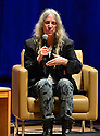 MIAMI, FL - DECEMBER 17: An Evening With author/musician Patti Smith in conversation with Cristina Favretto about Patti Smith new book 'Year of the Monkey' at Adrienne Arsht Center for the Performing Arts - Knight Concert Hall  in partnership with Books & Books and the Miami Book Fair on December 17, 2019 in Miami, Florida. ( Photo by Johnny Louis / jlnphotography.com )