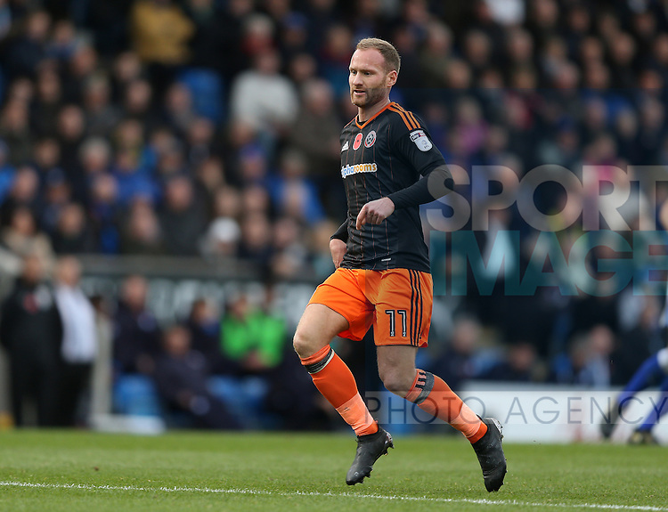 Matt Done of Sheffield Utd during the English League One match at the Proact Stadium, Chesterfield. Picture date: November 13th, 2016. Pic Simon Bellis/Sportimage