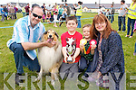 Chico the dog, who won the best dog of the Show at the Dog show on Sunday during the Fenit Seabreeze Festival. Pictured, from left: Brendan Nolan, Chico the dog, Christopher and Aaron Nolan and Patricia Kelliher (All Tralee).