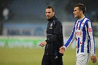VOETBAL: SC HEERENVEEN: Abe Lenstra Stadion, 17-02-2012, SC-Heerenveen-NAC, Eredivisie, Eindstand 1-0, Gerarld Sibon, Bas Dost, ©foto: Martin de Jong.