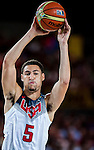 Klay Thompson of United States of America during FIBA Basketball World Cup 2014 group C between United States of America vs New Zeland  on September 02, 2014 at the Bilbao Arena stadium in Bilbao, Spain. Photo by Nacho Cubero / Power Sport Images