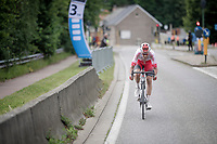 Kenneth Vanbilsen (BEL/Cofidis) leading solo with 3km to go<br /> <br /> Dwars door het Hageland 2019 (1.1)<br /> 1 day race from Aarschot to Diest (BEL/204km)<br /> <br /> ©kramon