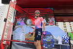 Teejay Van Garderen (USA) EF Education First at sign on before the start of Stage 4 of La Vuelta 2019 running 175.5km from Cullera to El Puig, Spain. 27th August 2019.<br /> Picture: Eoin Clarke | Cyclefile<br /> <br /> All photos usage must carry mandatory copyright credit (© Cyclefile | Eoin Clarke)