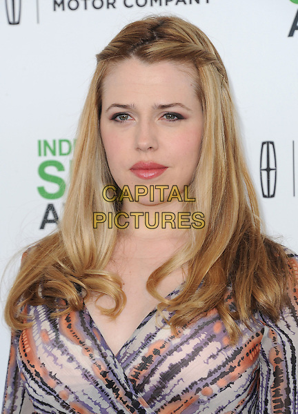SANTA MONICA, CA, MARCH 01: Majandra Delfino at The 2014 Film Independent Spirit Awards held at Santa Monica Beach in Santa Monica, California, USA on March 1st, 2014.                                                                              <br /> CAP/DVS<br /> &copy;Debbie VanStory/Capital Pictures
