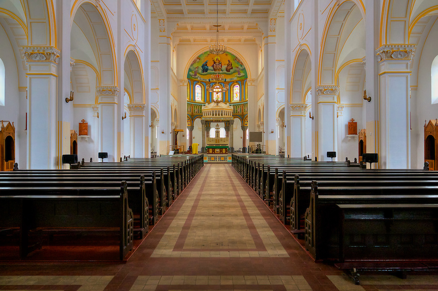 Interior Of St Michael's Cathedral, Qingdao (Tsingtao).