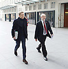Andrew Marr Show <br /> arrivals <br /> 13th November 2016 <br /> BBC, Broadcasting House, London, Great Britain <br /> <br /> <br /> Seamus Milne <br /> arrives with <br /> <br /> Jeremy Corbyn MP<br /> Leader of the Labour Party <br /> <br /> <br /> <br /> <br /> <br /> Photograph by Elliott Franks <br /> Image licensed to Elliott Franks Photography Services