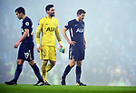 A dejected Tottenham Hotspur goalkeeper Hugo Lloris and Jan Vertonghen of Tottenham Hotspur at the end of the game premier league match at the Etihad Stadium, Manchester. Picture date 16th December 2017. Picture credit should read: Robin ParkerSportimage