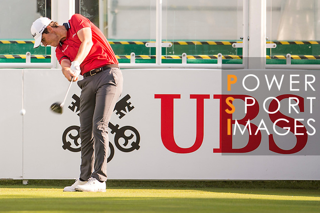 Renato Paratore of Italy tees off the first hole during the 58th UBS Hong Kong Open as part of the European Tour on 08 December 2016, at the Hong Kong Golf Club, Fanling, Hong Kong, China. Photo by Marcio Rodrigo Machado / Power Sport Images