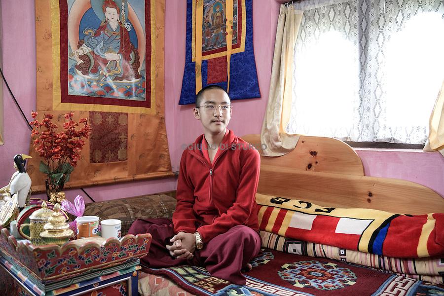 Mepham Jamstsho ayoung Bodhisatva in<br /> Sangachokor monastery, in Paro, Bhutan June 2016