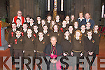 Group from Lissivigeen National School, Killarney, after they received their Confirmation from Bishop Bill Murphy in St Marys Cathedral, Killarney, on Friday, with their Principal Mrs Noonan, Teacher Mr McAuliffe and Fr. Declan OConnor..