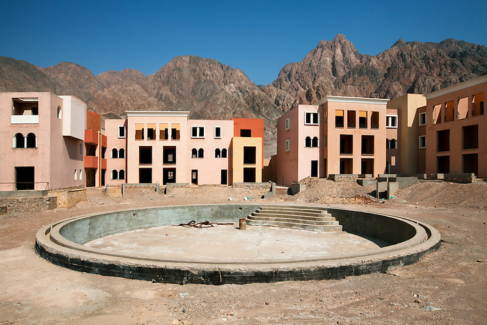 Taba, Sinai, July 2014. Al Farah sea side resort, unfinished and left abandoned since 2007.
