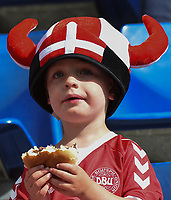 20170803 - BREDA , NETHERLANDS : Illustration shows Danish fans pictured during the female soccer game between Denmark and Austria  , the semi final at the Women's Euro 2017 , European Championship in The Netherlands 2017 , Thursday 3th of August 2017 at Stadion Rat Verlegh in Breda , The Netherlands PHOTO SPORTPIX.BE | DIRK VUYLSTEKE