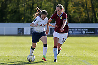 Hollie Gibson of Aston Villa Ladies and Angela Addison of Tottenham Ladies during Tottenham Hotspur Ladies vs Aston Villa Ladies, FA Women's Championship Football at Theobalds Lane on 28th October 2018