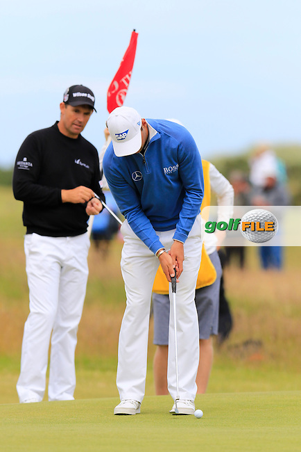 Martin Kaymer (GER) putts during Sunday's Round 3 of the 144th Open Championship, St Andrews Old Course, St Andrews, Fife, Scotland. 19/07/2015.<br /> Picture Eoin Clarke, www.golffile.ie