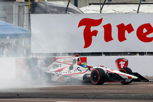 2017 Verizon IndyCar Series - Firestone Grand Prix of St. Petersburg<br /> St. Petersburg, FL USA<br /> Sunday 12 March 2017<br /> Sebastien Bourdais celebrates with donuts<br /> World Copyright: Phillip Abbott/LAT Images<br /> ref: Digital Image lat_abbott_stp_0317_13053