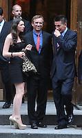 June 30, 2012  Robert Kenndy Jr., Kyra Kennedy, Billy Baldwin attend the Alec Baldwin and Hilaria Thomas Wedding Day at Basilica of St. Patrick's Old Cathedral in Little Italy in New York City.Credit:© RW/MediaPunch Inc. /*NORTEPHOTO.COM*<br /> *SOLO*VENTA*EN*MEXiCO* *CREDITO*OBLIGATORIO** *No*Venta*A*Terceros* *No*Sale*So*third* ***No Se*Permite*Hacer*Archivo** *No*Sale*So*third*©Imagenes con derechos de autor,©todos reservados. El uso de las imagenes está sujeta de pago a nortephoto.com El uso no autorizado de esta imagen en cualquier materia está sujeta a una pena de tasa de 2 veces a la normal. Para más información: nortephoto@gmail.com* nortephoto.com.