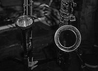 CIUDAD DE MÉXICO, septiembre 18, 2014. El saxofonista Dan Zlotnik del grupo de Jazz de Los Dorados durante su concierto en el salón Pata Negra de la Ciudad de México, el 18 de septiembre de 2014. FOTO: ALEJANDRO MELÉNDEZ