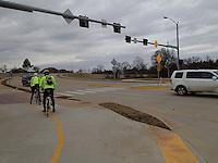 Crossing Pleasant Grove Road in Rogers.