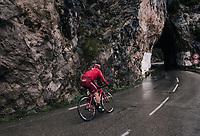 Tiago Machado (POR/Katusha-Alpecin) plowing through the torrential rain<br /> <br /> 76th Paris-Nice 2018<br /> Stage 8: Nice > Nice (110km)