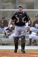 March 20, 2010:  Catcher Neil Wilson of the Florida Marlins organization during Spring Training at the Roger Dean Stadium Complex in Jupiter, FL.  Photo By Mike Janes/Four Seam Images