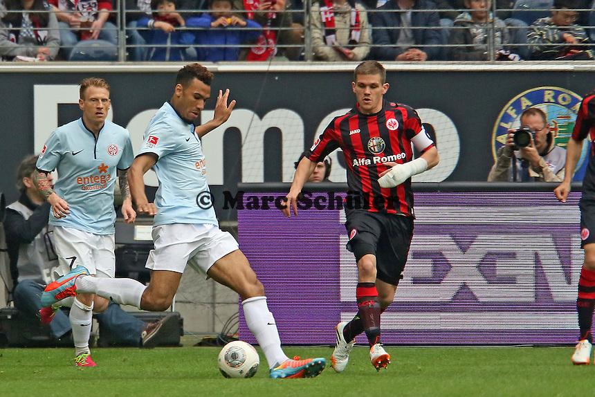 Eric-Maxim Choupo-Moting (Mainz) gegen Sebastian Jung (Eintracht) - Eintracht Frankfurt vs. 1. FSV Mainz 05
