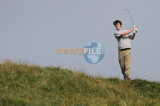 Gareth Lappin (IRL) on the 3rd on the Final Day at the 2012 Boys Home Internationals at Co.Louth Golf Club in Baltray, Co.Louth...(Photo credit should read Jenny Matthews/NEWSFILE)...