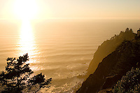 View from Neahkahnie lookout, highway 101, Neahkanie Mountain, Oregon Coast