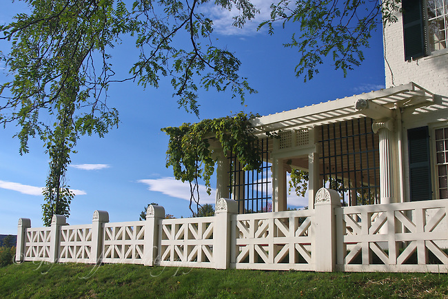 Exterior of Saint-Gaudens Estate, porch.